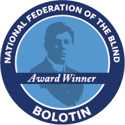 National Federation of the Blind Bolotin Award Winner Badge